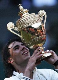 New Wimbledon Champion, Rafael Nadal of Spain.