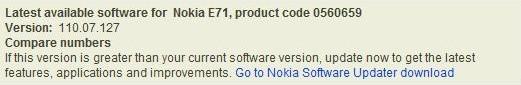 E71 Firmware update