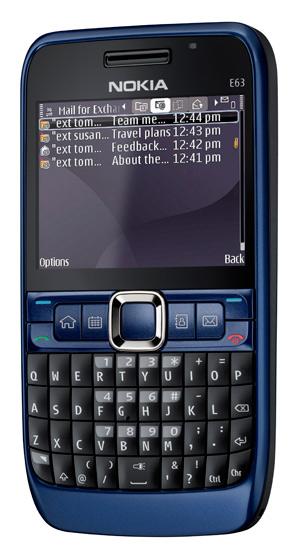 Nokia E63 Aquamarine