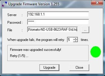Firmware successfully flashed.