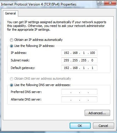 Set A Static IP on your PC