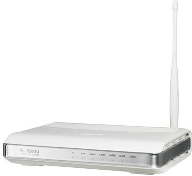 WL-520gU EZ Wireless Router with MFP Server