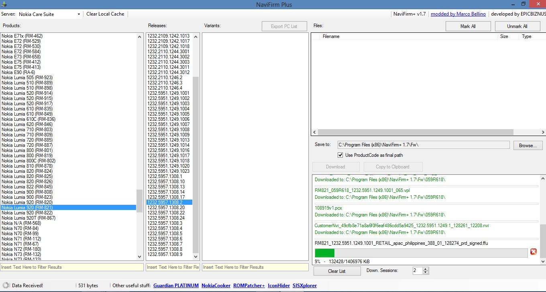 Navifirm+ Workaround: Download Files From Nokia Servers