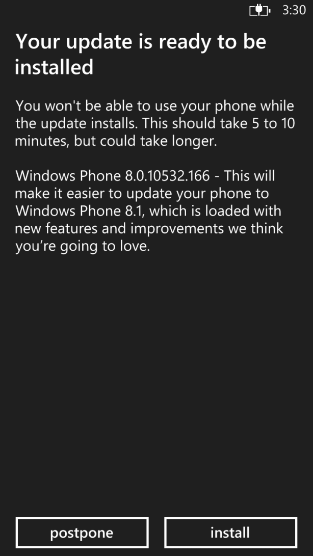 Cyan firmware update for the Lumia 1320