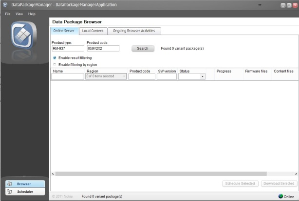 Nokia Suite Data Package Manager